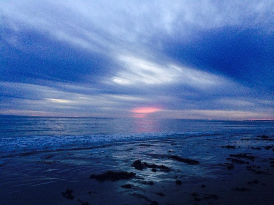 Heart sky sunset Hendry's Beach Santa Barbara