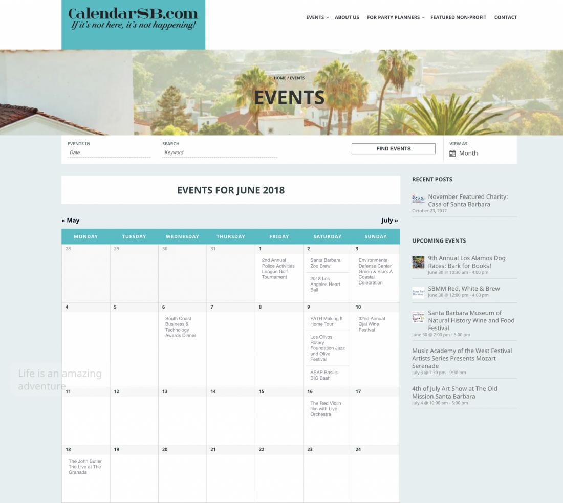 Calendar SB Events
