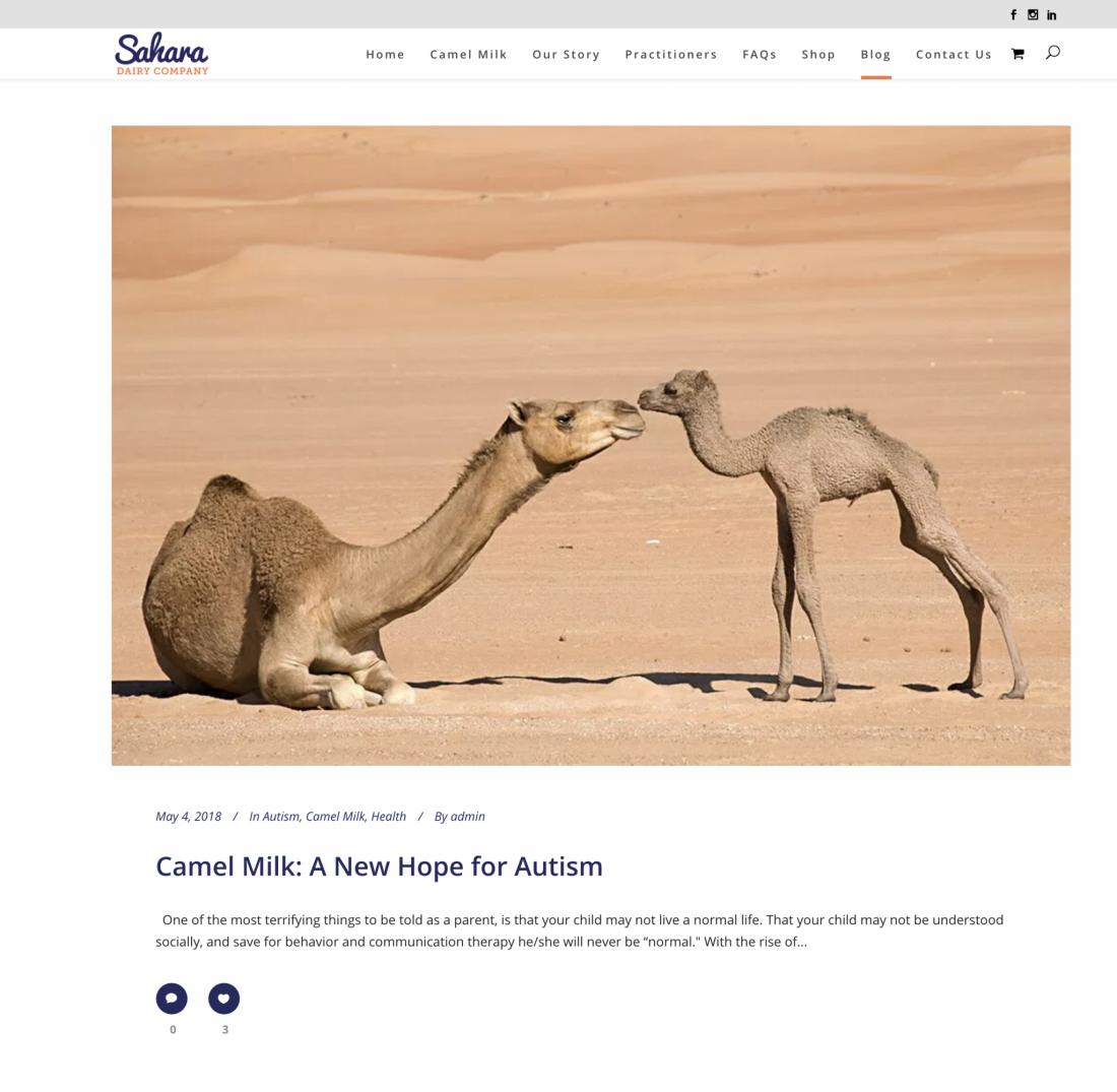 Sahara Dairy Blog