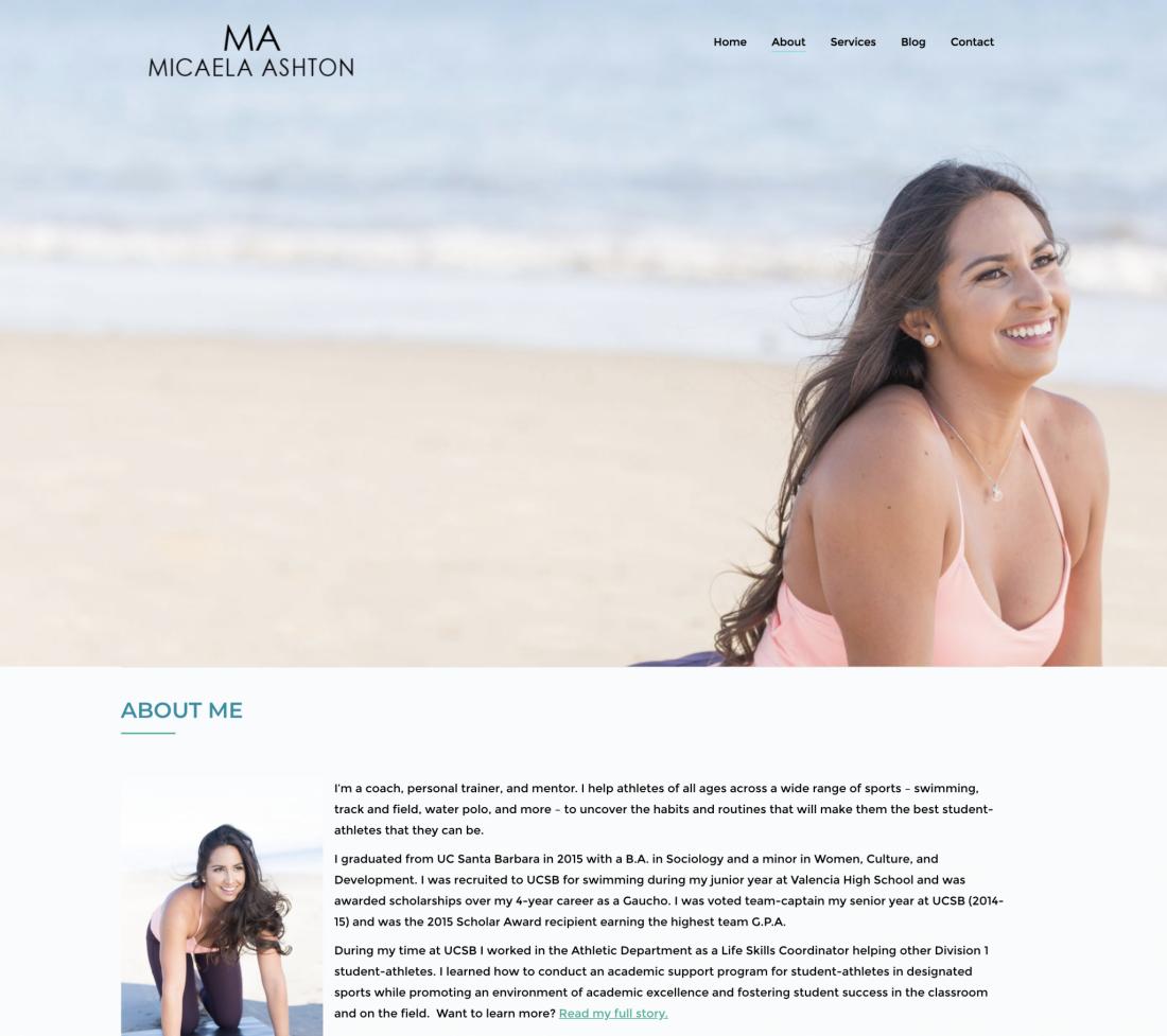 Micaela Ashton About Page