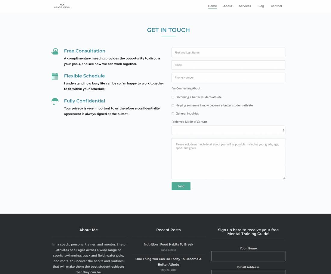 Consultation Form Micaela Ashton Website